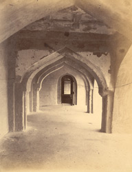 Corridor on second storey [of the Raja Mahal], Chandragiri, North Arcot District